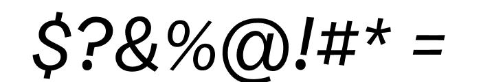 Burbank Small Light Medium Italic Font OTHER CHARS