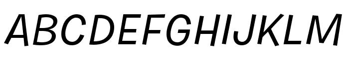 Burbank Small Light Medium Italic Font UPPERCASE