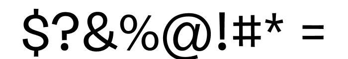 Burbank Small Light Medium Font OTHER CHARS