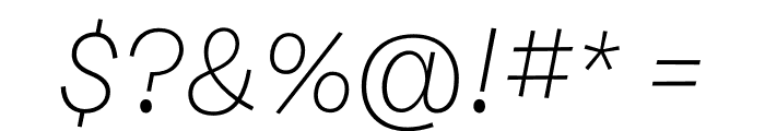 Burbank Small Light Regular Italic Font OTHER CHARS