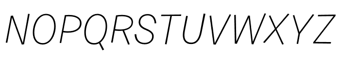 Burbank Small Light Regular Italic Font UPPERCASE