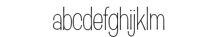 D'Amico Gothic Condensed Thin Light Font LOWERCASE