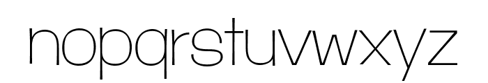 D'Amico Gothic Extended Thin Font LOWERCASE