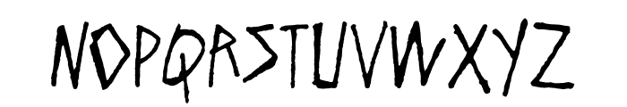 Flyer Distortion Font LOWERCASE