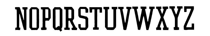 Flyer Straight Font UPPERCASE