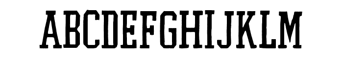 Flyer Straight Font LOWERCASE