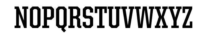 United Serif Condensed Thin Bold Font UPPERCASE
