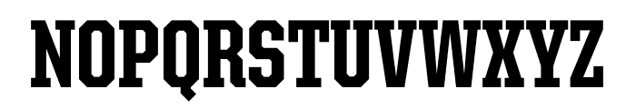 United Serif Condensed Thin Extra Bold Font UPPERCASE