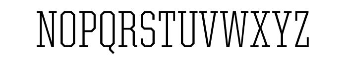 United Serif Condensed Thin Regular Font UPPERCASE