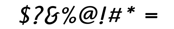 HighlanderStd-BookItalic Font OTHER CHARS