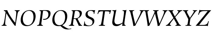 HiroshigeStd-BookItalic Font UPPERCASE