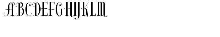 High Society NF Regular Font UPPERCASE