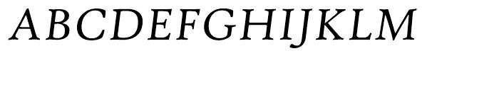 Hightower Text Italic MST Font UPPERCASE