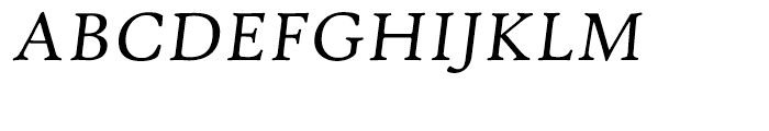 Hightower Text Italic Font UPPERCASE