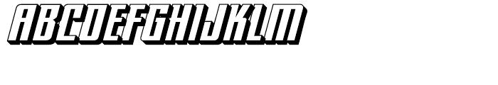 Hip Flask Open Italic Font UPPERCASE