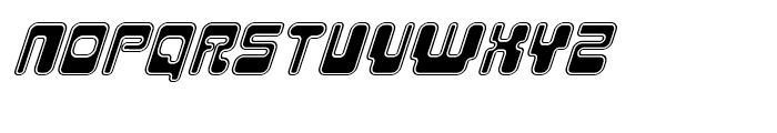Hiro Outline Italic Font UPPERCASE