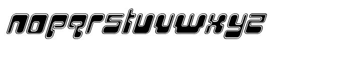 Hiro Outline Italic Font LOWERCASE
