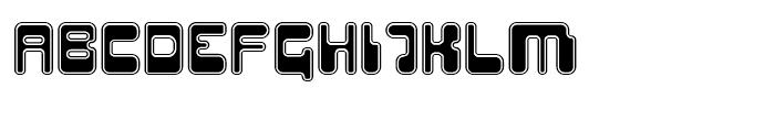Hiro Outline Font UPPERCASE