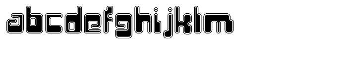 Hiro Outline Font LOWERCASE