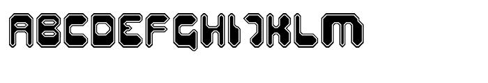 Hiro Sharp Outline Font UPPERCASE