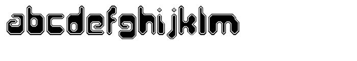Hiro Sharp Outline Font LOWERCASE