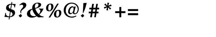 Hiroshige Bold Italic Font OTHER CHARS