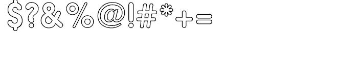 Hiruko Alternate Outline Font OTHER CHARS