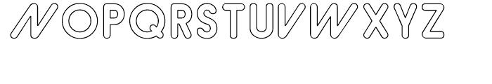 Hiruko Alternate Outline Font UPPERCASE