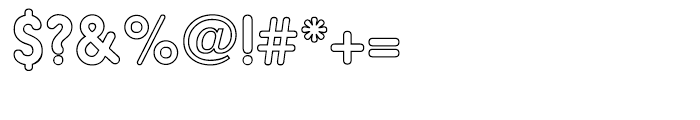 Hiruko Pro Outline Regular Font OTHER CHARS