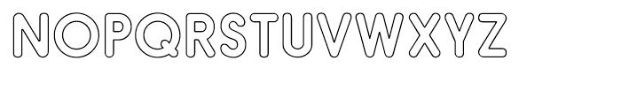 Hiruko Pro Outline Regular Font UPPERCASE
