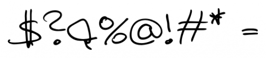Hilly Handwriting Pro Regular Font OTHER CHARS