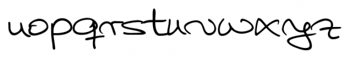 Hilly Handwriting Pro Regular Font LOWERCASE