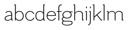 Hilton Serif Regular Font LOWERCASE