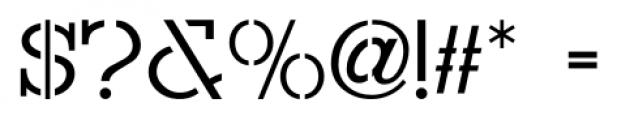 Hitchcock Stencil JNL Regular Font OTHER CHARS