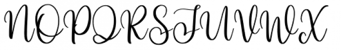 Hi Virginia Regular Font UPPERCASE
