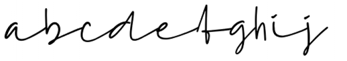 Hideas Regular Font LOWERCASE