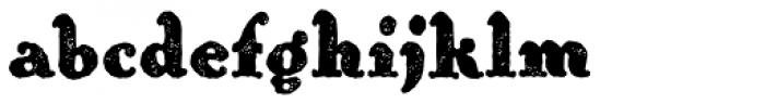 Hierra Rough Font LOWERCASE
