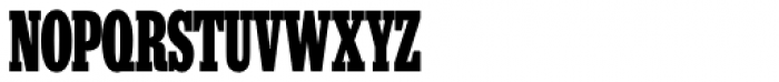 High Intensity Black Font UPPERCASE