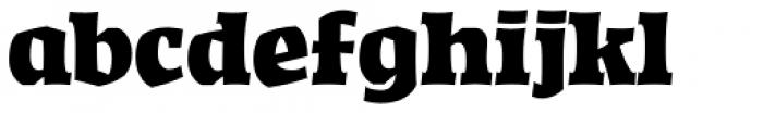 Highground Regular Font LOWERCASE