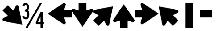 Highway Gothic B Font OTHER CHARS