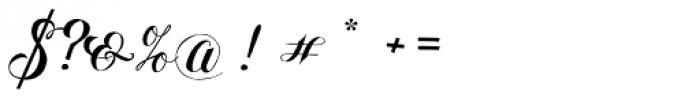 Hinzatis Curly Font OTHER CHARS