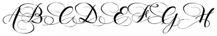 Hinzatis Curly Font UPPERCASE