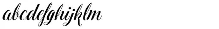 Hinzatis Curly Font LOWERCASE