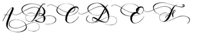 Hinzatis Font UPPERCASE
