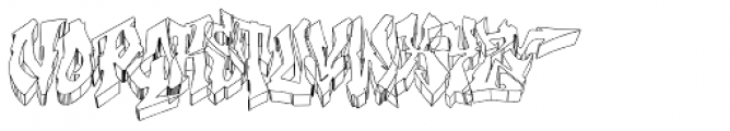 Hip-HIGH Font UPPERCASE