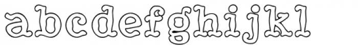 HippityDippity Inline Middle Font LOWERCASE