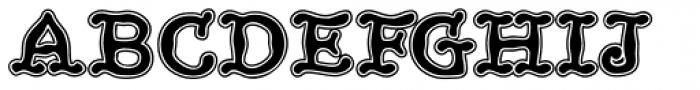 HippityDippity Inline Font UPPERCASE