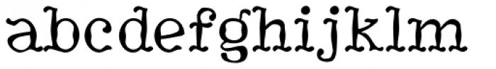 HippityDippity Font LOWERCASE