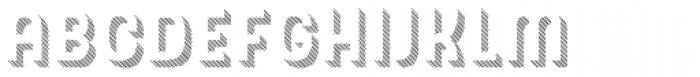 Hipton Sans Extrude Line Font LOWERCASE