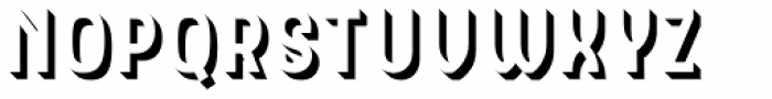 Hipton Sans Extrude Font UPPERCASE